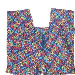VTG Disney Neon 90's Pajama Bottom Pants Large